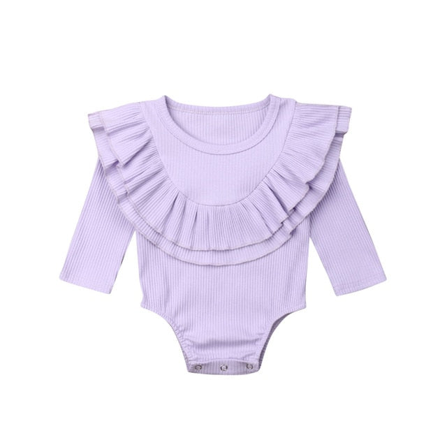 Collar Bodysuit - Purple