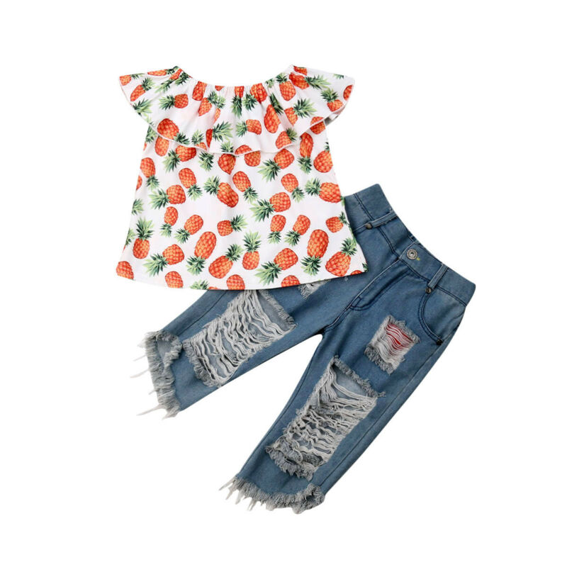 Pineapple Denim Set