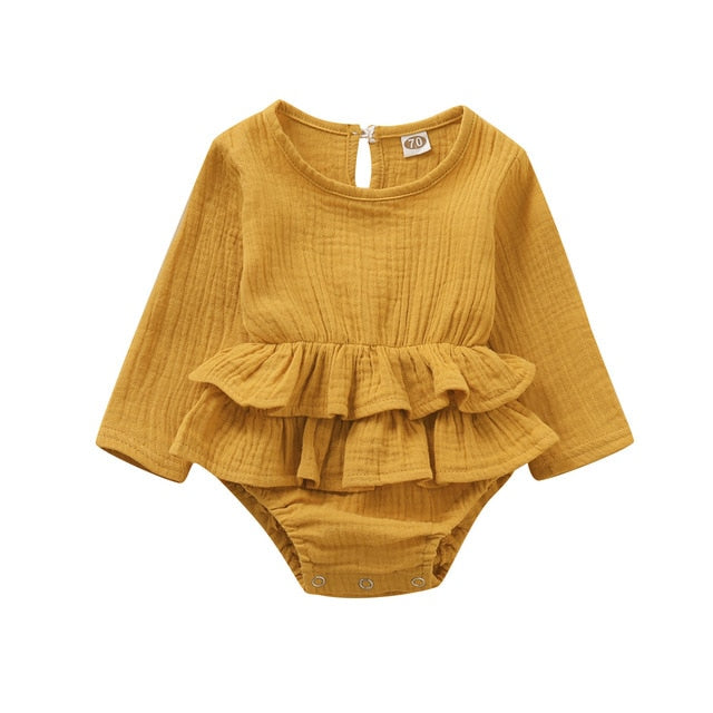 Giselle Romper Long Sleeve - Yellow