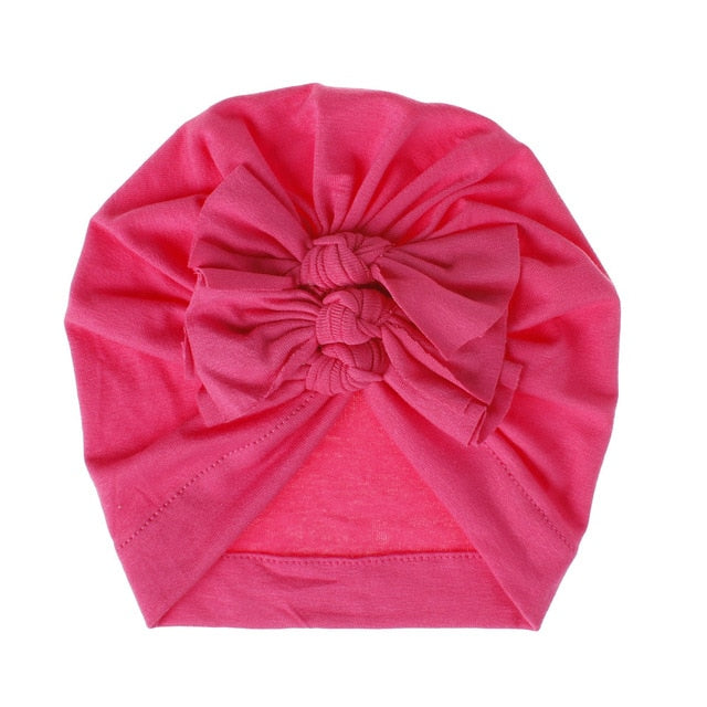 Triple Knot Turban - Bright Pink