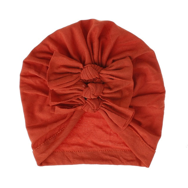 Triple Knot Turban - Burnt Orange