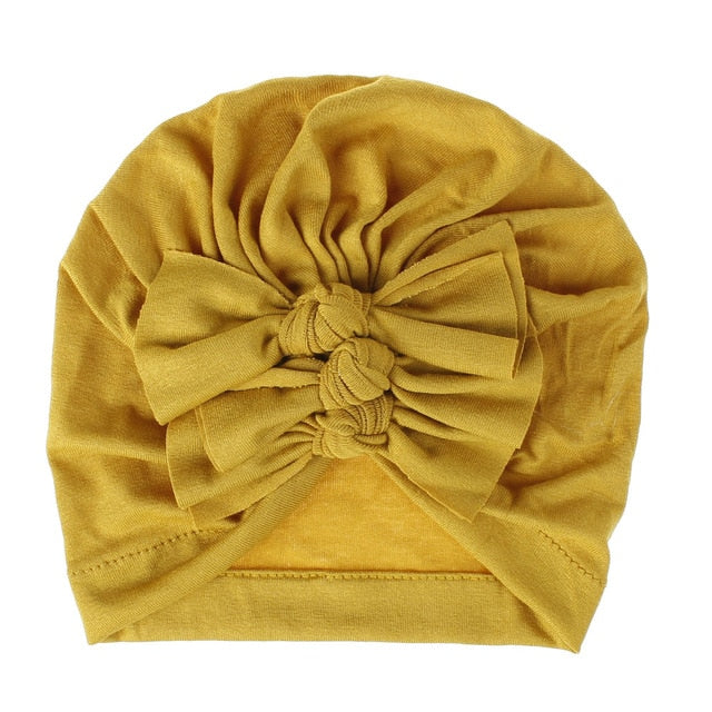 Triple Knot Turban - Yellow
