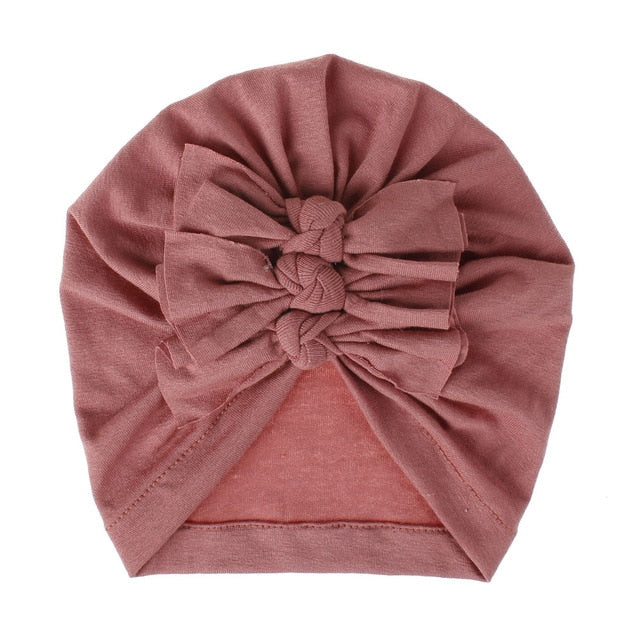 Triple Knot Turban - Dusty Pink