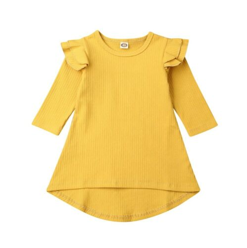 Flutter Swing Dress - Yellow