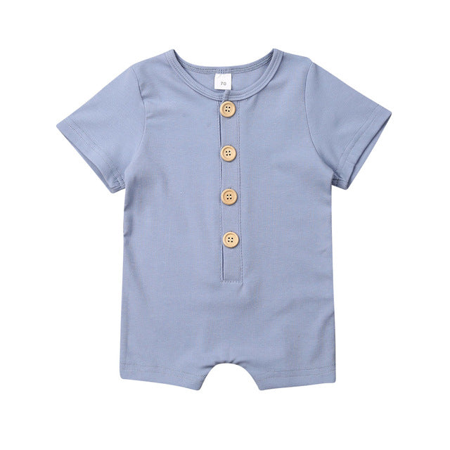 Button Up Onesie - Blue