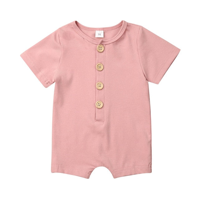 Button Up Onesie - Dusty Pink