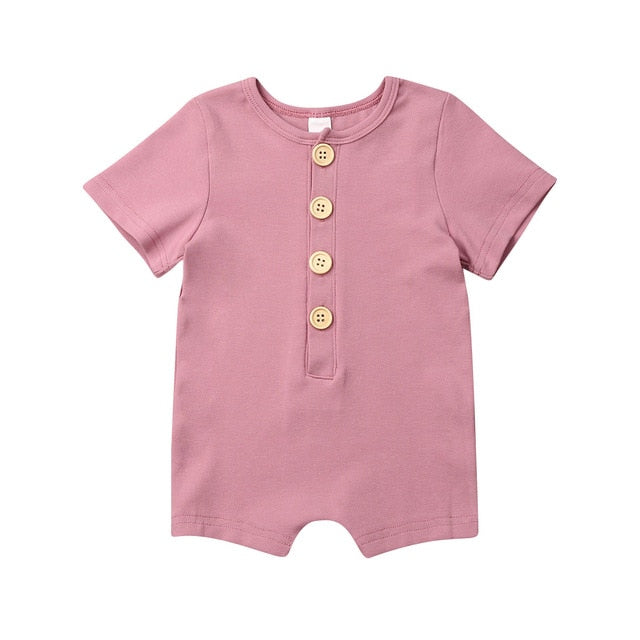 Button Up Onesie - Pink