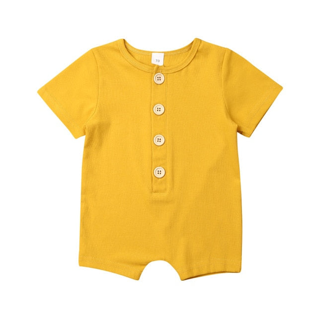 Button Up Onesie - Yellow