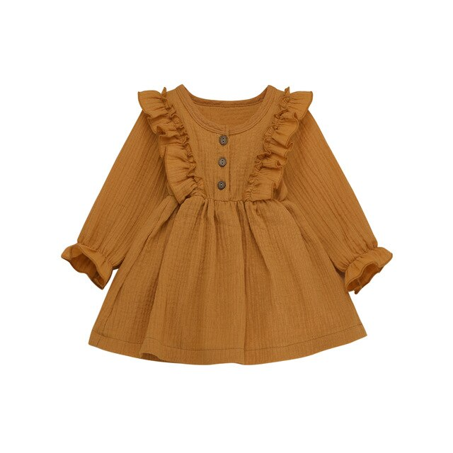 Ruffle Dress - Mustard