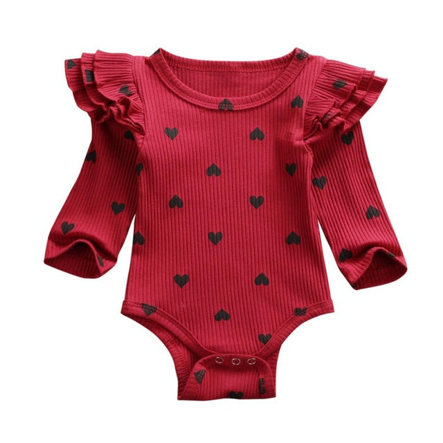Heart Flutter Bodysuit - Red