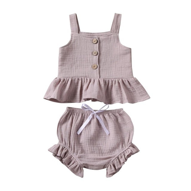 Peplum Set - Light Mauve