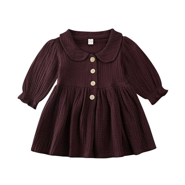 Collar Dress - Chocolate