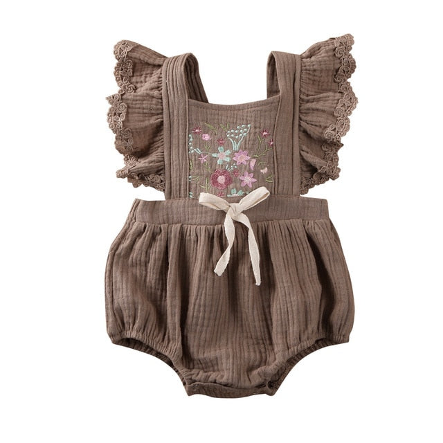 Penelope Romper - Brown