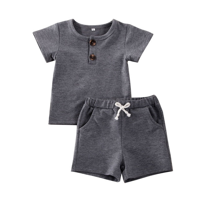 Simple Shorts Set - Grey