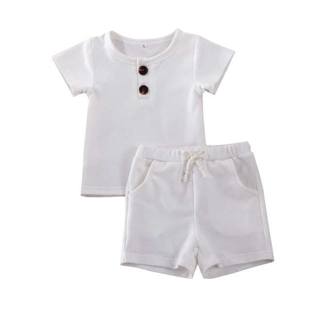 Simple Shorts Set - White