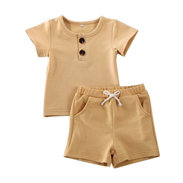 Simple Shorts Set - Latte