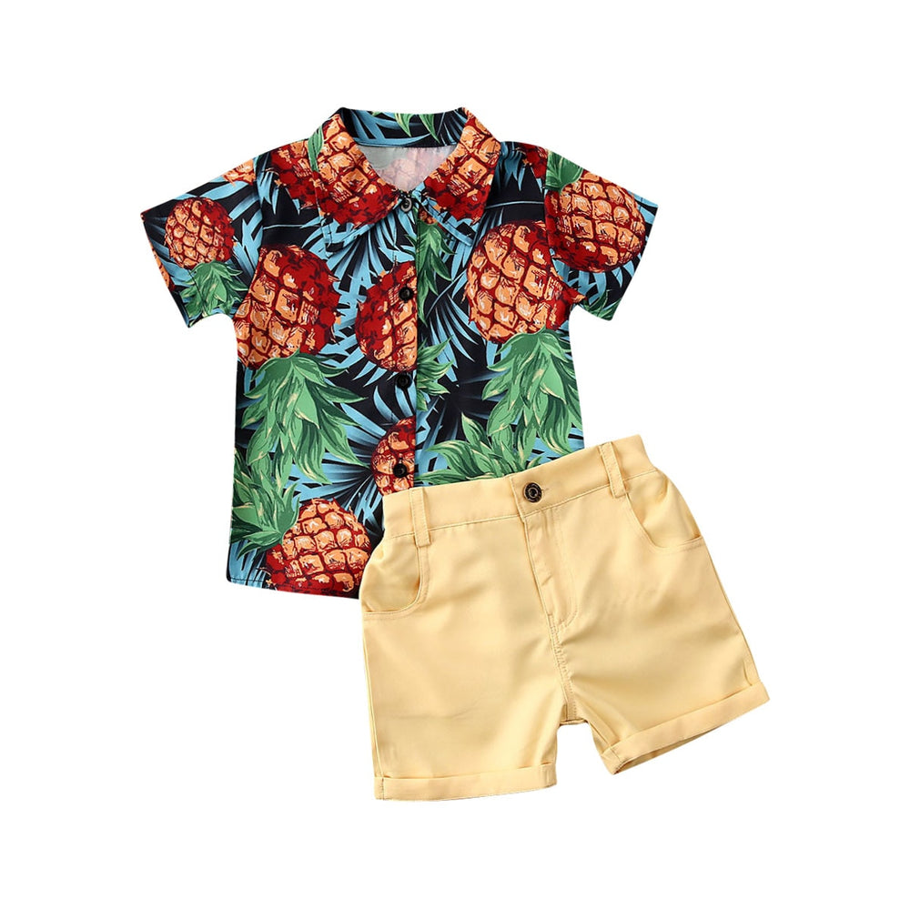 Pineapple Shirt Shorts Set