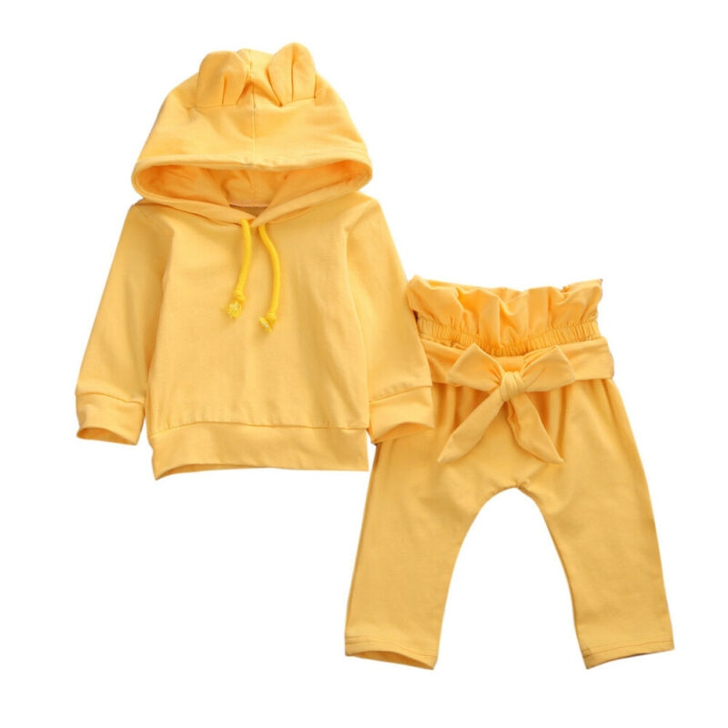 Yellow Bear Hoodie Set