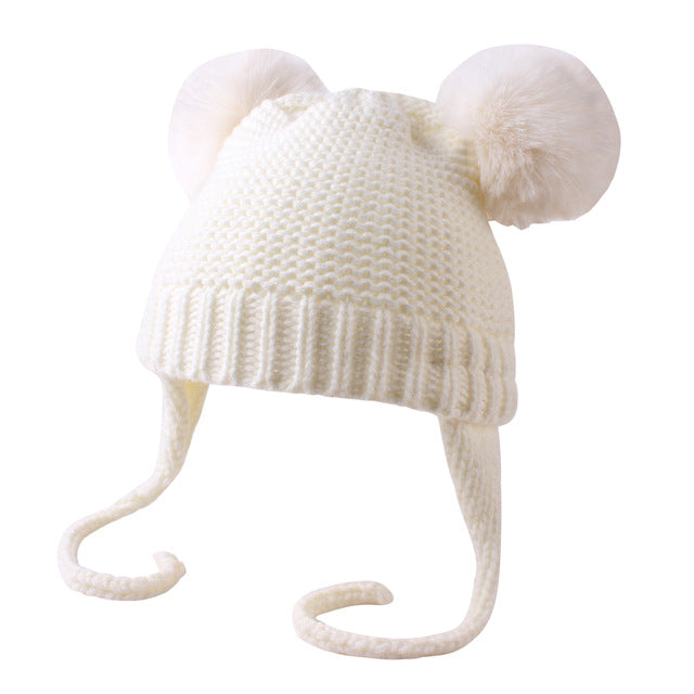 Bear Beanie - Off White