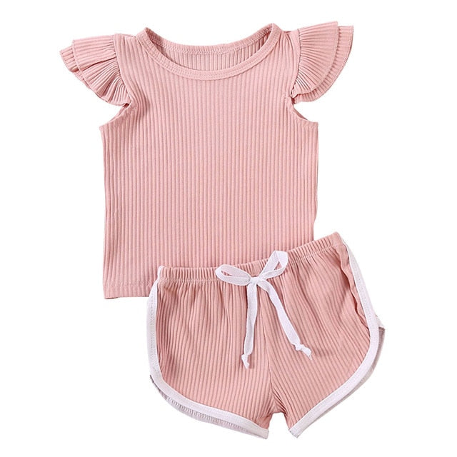 Candy Shorts Set - Blush