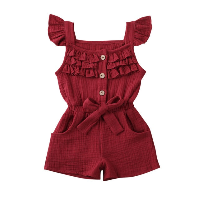 Hazel Playsuit - Burgundy