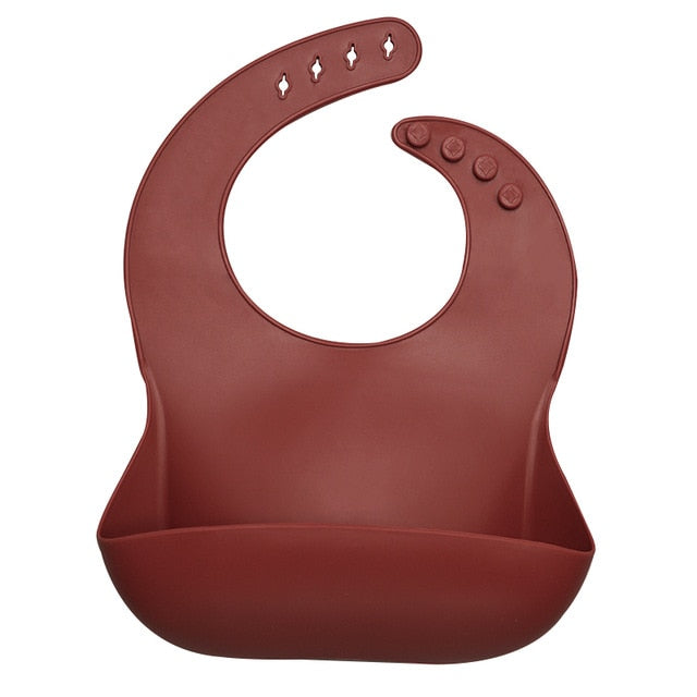Silicone Feeding Bib - Chocolate