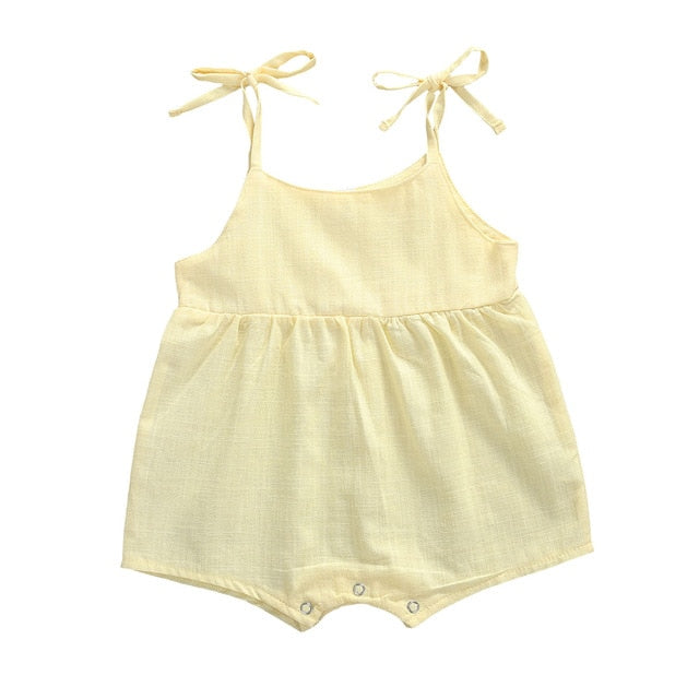 Ayla Romper - Yellow