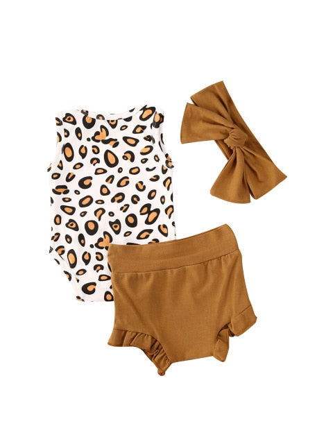 Leopard Bloomer Set - Tan