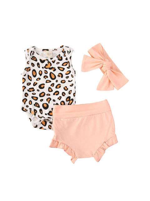 Leopard Bloomer Set - Pink