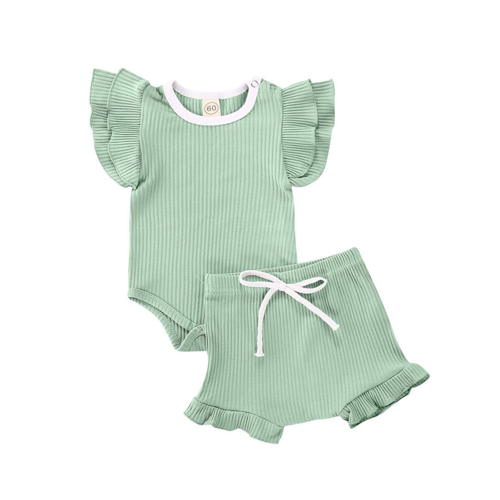 Rib Flutter Set - Green