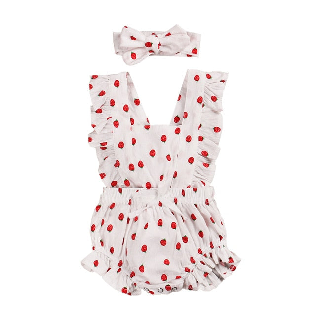 Grace Romper. - Strawberry