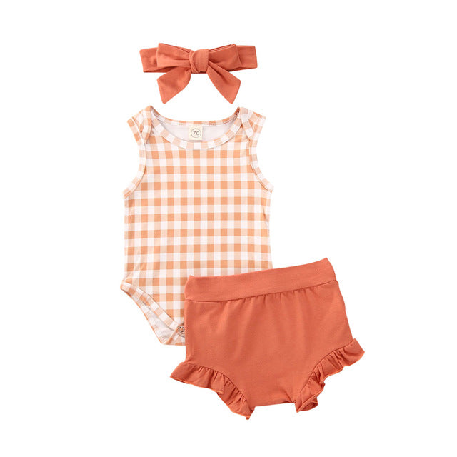 Bloomer Set - Orange Check