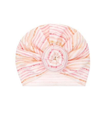 Top Knot Turban - Pink Stripe
