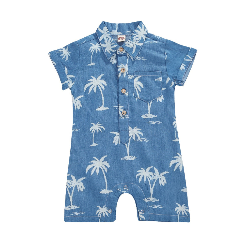 Denim Look Palm Onesie