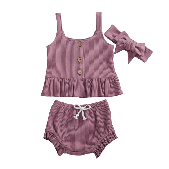 Isla Bloomer Set - Purple