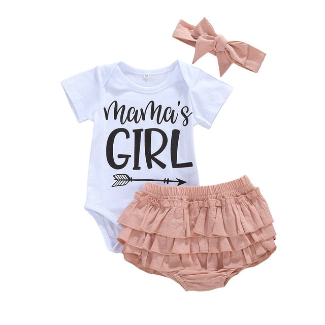 Mama's Girl Ruffle Bloomer Set