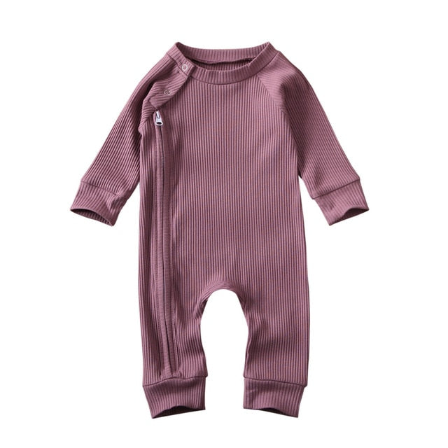 Zip Onesie - Purple