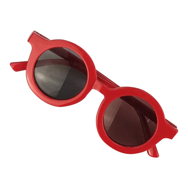 Circle Sunglasses - Red