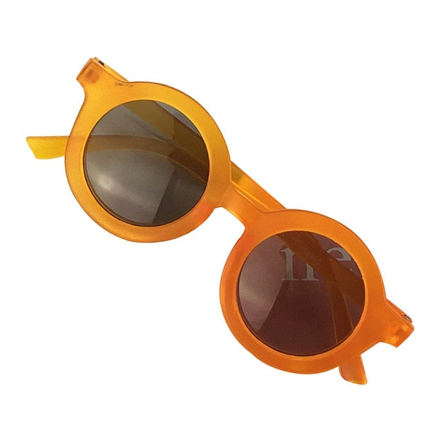 Circle Sunglasses - Orange