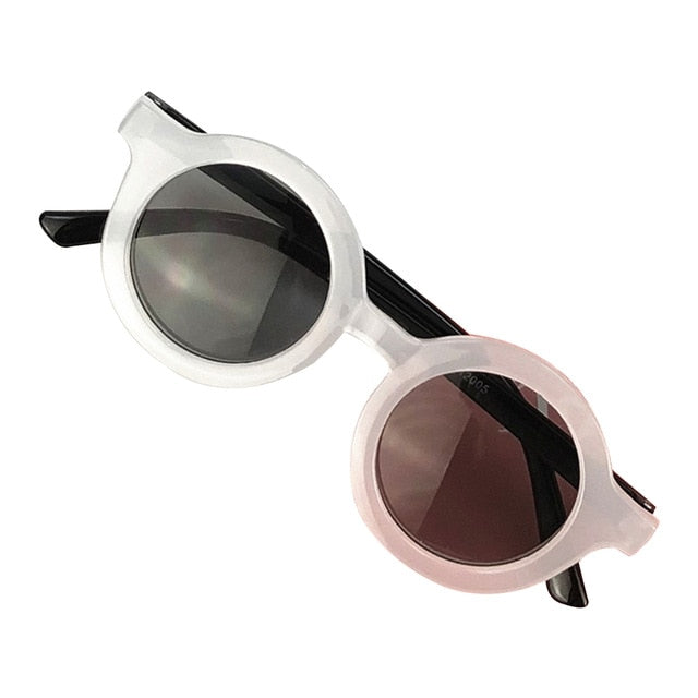 Circle Sunglasses - White