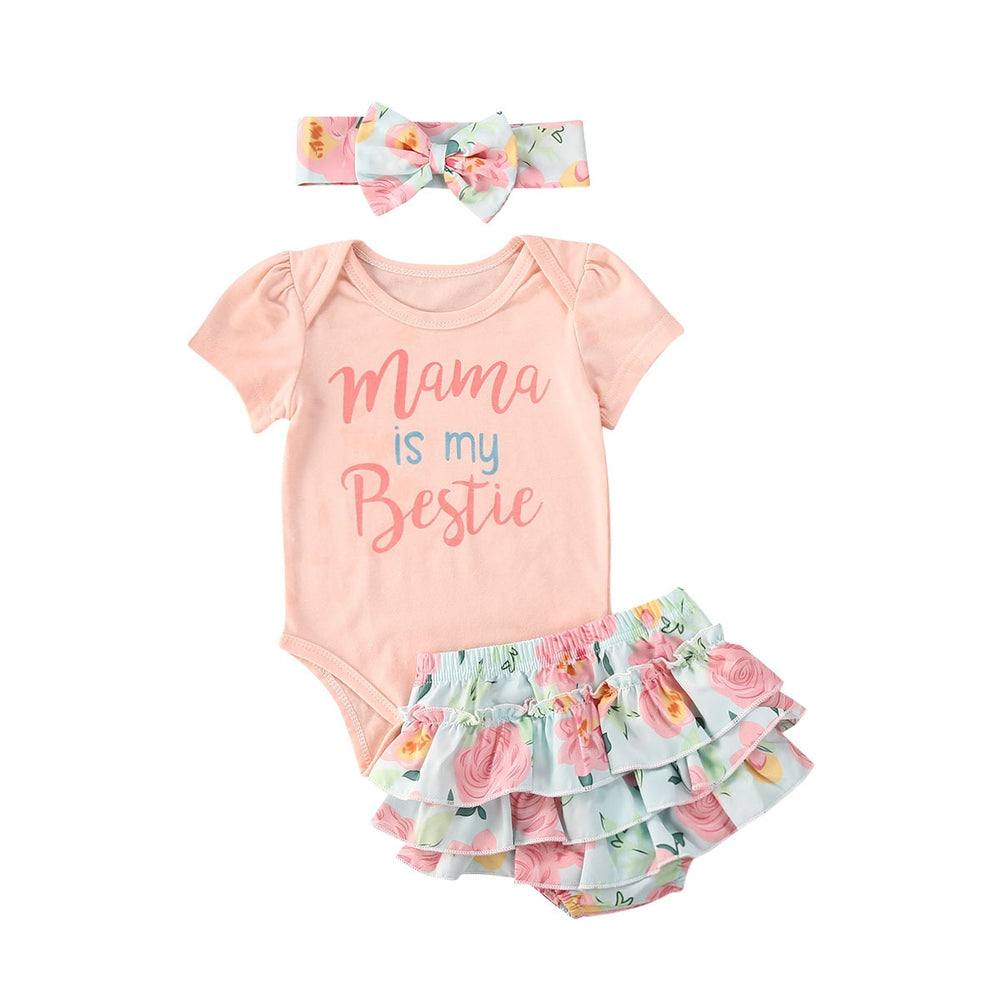 Mama Is My Bestie Pastel Bloomer Set