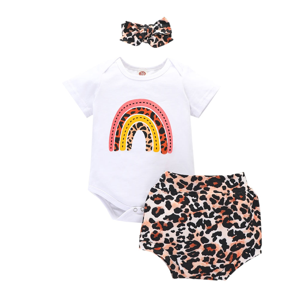 Leopard Rainbow Bloomer Set
