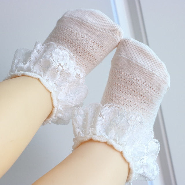 Lace Socks - White