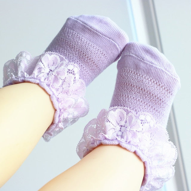 Lace Socks - Purple