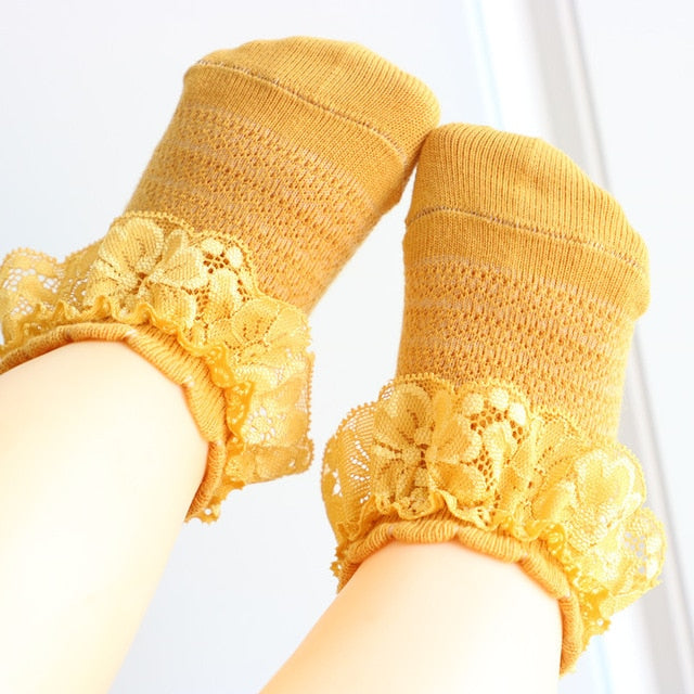 Lace Socks - Yellow