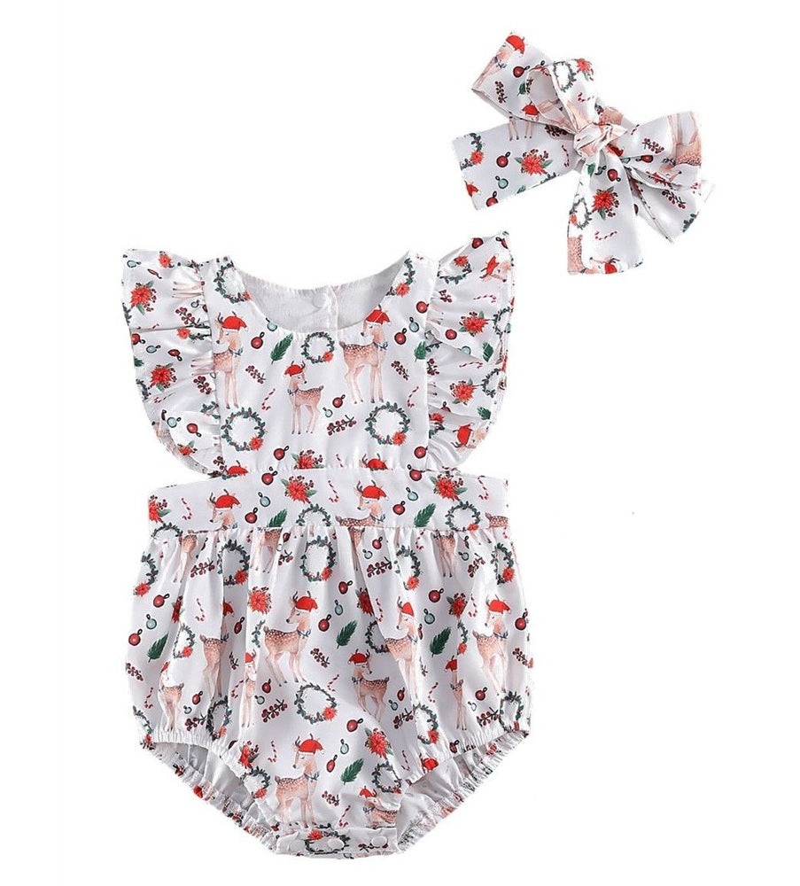 Christmas Wreath Romper