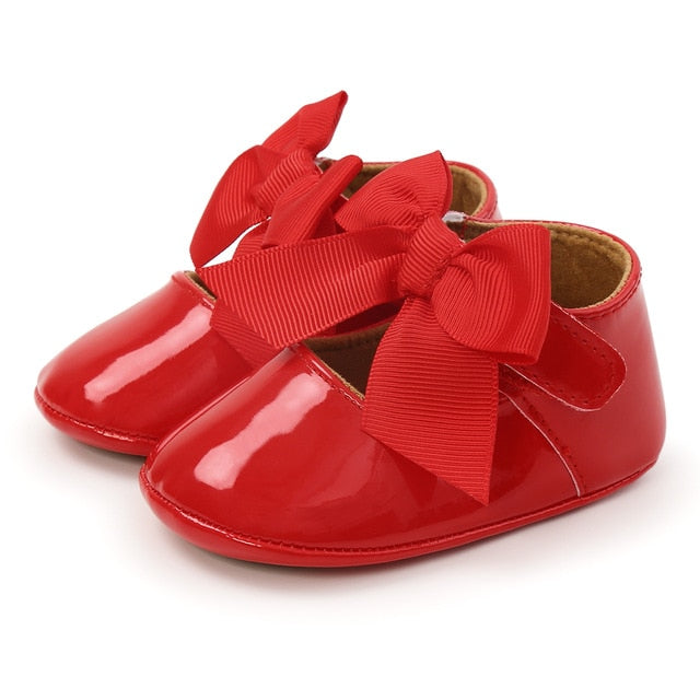 Gloss Bow Sandal - Red