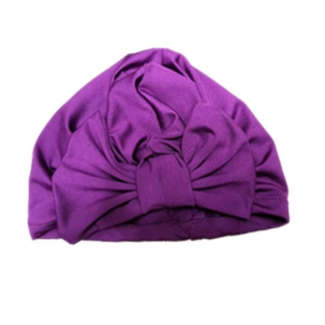 Bow Turban - Purple