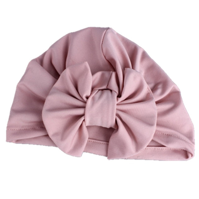 Bow Turban - Dusty Pink