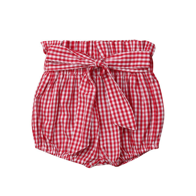 Crumple Shorts - Red Checks